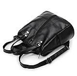 Сумка - рюкзак черная классика, фото 3