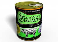 Консервированная Тушенка Из Свинины Мясо Свинины 330 мл, фото 1