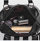 Сумка - рюкзак черная классика, фото 5