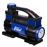 Компрессор VITOL K-70 150psi/23Amp/90л/2 цилиндра/шланг 5,0м/клеммы