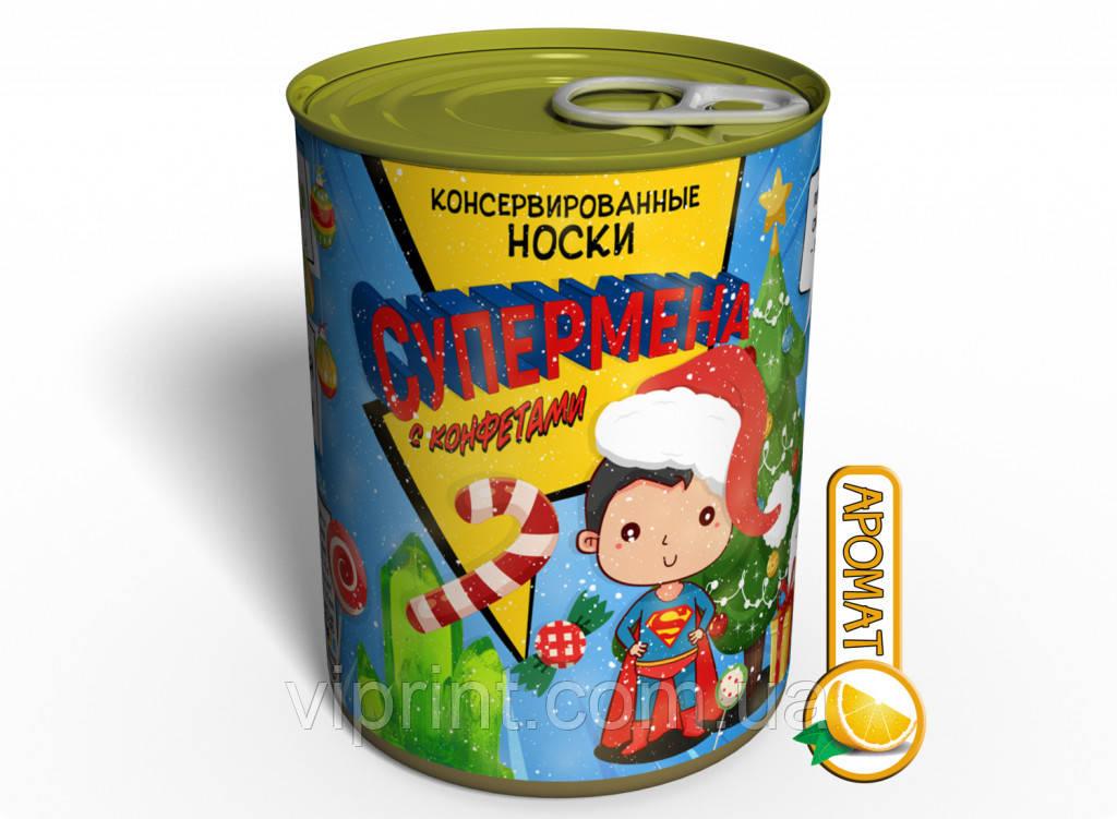 Консервированные Носки Супермена С Конфетами - Необычный Подарок Для Супергероя
