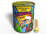 Консервированные Носки Супермена С Конфетами - Необычный Подарок Для Супергероя, фото 1