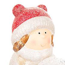 "Фигурка светящаяся ""Девочки лепят снеговика"" (017ND), фото 3"