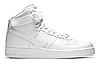 "Зимние Мужские Кроссовки на меху Nike Air Force 1 High ""White"" - ""Белые"" (Копия ААА+)"