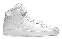 """Зимние Мужские Кроссовки на меху Nike Air Force 1 High """"White"""" - """"Белые"""" (Копия ААА+), фото 1"""