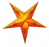 """Светильник картонный Звезда пятилучевая """"Orange Flower Embd."""""""