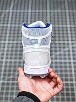 "Кроссовки Nike Air Jordan 1 High Zoom R2T ""Белые/Серые"", фото 2"