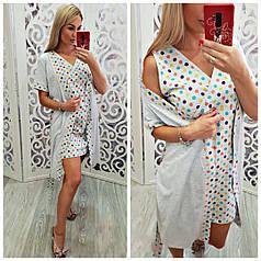 Комплект халат і сорочка для беременяшек