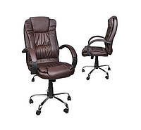 Офисное кресло эко кожа коричневый Malatec 8985
