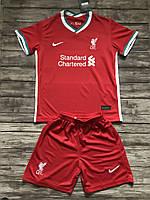 Футбольная форма ФК Ливерпуль (FC Liverpool) 2020-2021 Домашняя детская/взрослая, фото 1