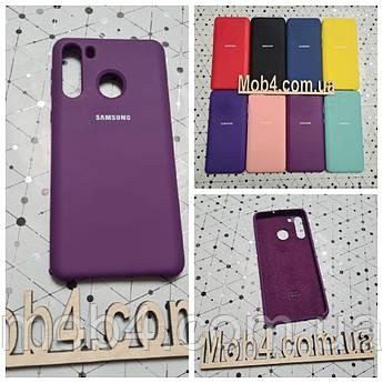 Брендовий чохол накладка Silicone Cover для Samsung (Самсунг) A21