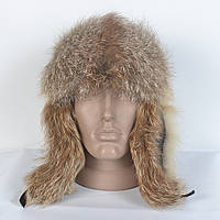 Чоловіча шапка- вушанка з натуральної шкіри натурального хутра лисиці 3ac5517a6f440