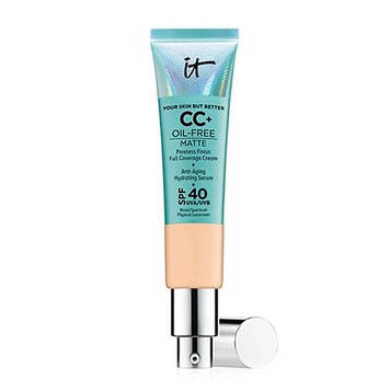 СС-крем IT Cosmetics Your Skin But Better CC+ Oil-Free Matte with SPF 40 UVA Light Medium