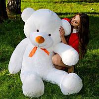 Большой плюшевый медведь 180 см, мягкий мишка подарок для девушки на день рождения, белый