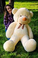 Большой плюшевый медведь 180 см, мягкий мишка подарок для девушки на день рождения, персиковый