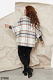 Женское кашемировое пальто-пончо в клетку р. 48-52, 54-58, фото 2