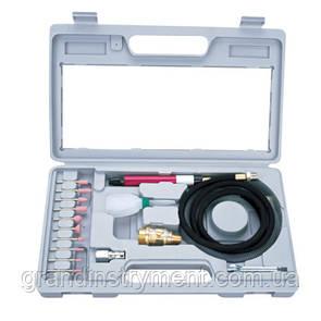 Зачисна машина (гравер) пневматична mini з комплектом шліфувальних каменів (1/8, цанг.затискач 3мм, 54000об/хв) AIRKRAFT AT-010K
