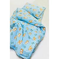 Комплект постельного белья детский ранфорс 20122 голубой