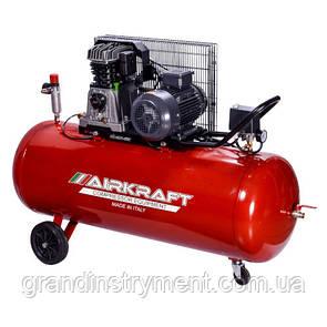 Компрессор поршневой с ременным приводом, Vрес=200л, 510л/мин, 380V, 3кВт AIRKRAFT AK200-510-380