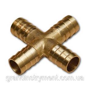 Cоединитель на шланг (крестовина, латунь) X-обр. 8*8*8мм AIRKRAFT E102-7-2