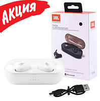 Беспроводные сенсорные вакуумные наушники JBL TWS 4 Bluetooth гарнитура с микрофоном для телефона Белый