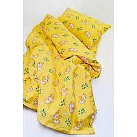 Комплект постельного белья детский ранфорс 20122 желтый