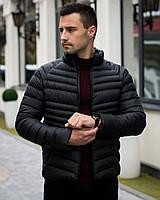 Куртка зимняя мужская Diamond до 0*С черная еврозима теплая   Пуховик зимний без капюшона   ЛЮКС качества