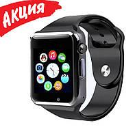 Умные смарт часы-телефон Smart Watch A1 с камерой Спортивные Bluetooth часы браслет с сим для взрослых