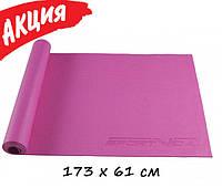 Коврик для йоги и фитнеса SportVida PVC 4 мм Спортивный каремат для тренировки пилатеса гимнастики Йога мат