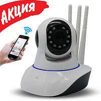 Камера Ip видеонаблюдения Wifi microsd 6030 Беспроводная поворотная видеокамера для дома с записью Ipcam