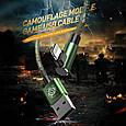 Кабель BASEUS Lightning Camouflage mobile game 1m, 2.4A Green, фото 3