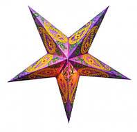 """Светильник картонный Звезда пятилучевая """"Purple Wool Embd."""""""
