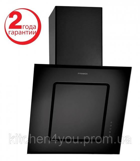 Вытяжка кухонная Pyramida BT 600 (600 мм.) черная эмаль / черное закаленное стекло