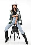Женская рубашка в клетку с длинным рукавом байка+шерсть размер: 42-46,46-50, фото 5