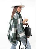 Женская рубашка в клетку с длинным рукавом байка+шерсть размер: 42-46,46-50, фото 6