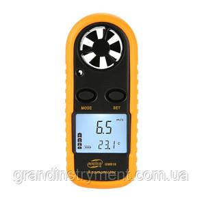 Анемометр 0,1-30м/с, -10-45°C  BENETECH GM816