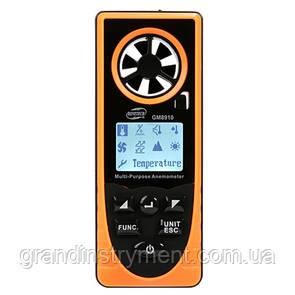 Анемометр багатоцільовий, барометр, альтиметр, люксметр, гігрометр 0,7-30м/с, -20-60°C BENETECH GM8910