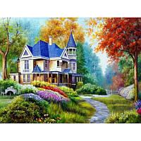 "Картина по номерам на дереве ""Дом в лесу"" 40*50 см, ТМ Josef Otten (3180RAD)"