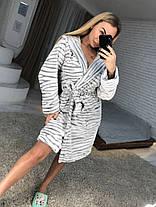 Женский махровый халат теплый длинный, фото 2
