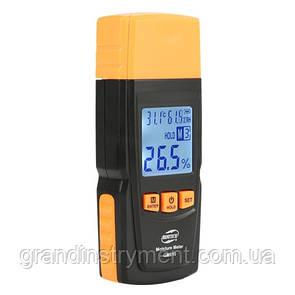 Влагомер древесины+термогигрометр 2-70%  (28 пород, 4 типа)  BENETECH GM610