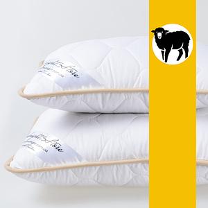 Подушка з вовни Меріноса GoodNight Store 40х60 см (колір Білий) Протиалергічна