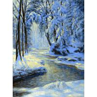 "Картина по номерам на дереве ""Зимняя река"" 40*50 см, ТМ Josef Otten (8447RSBD)"