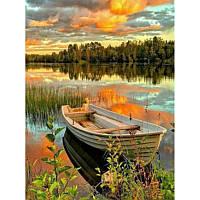 """Картина по номерам на дереве """"Лодка на озере"""" 40*50 см, ТМ Josef Otten (3039RAD)"""
