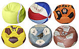 Бескаркасное кресло-мяч с именем футбол пуф для детей, фото 10