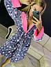 Красивый женский длинный махровый халат в звездочку, фото 4