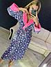Красивый женский длинный махровый халат в звездочку, фото 5