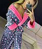 Красивый женский длинный махровый халат в звездочку, фото 6