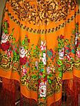 Белые розы 373-0, павлопосадский платок (шаль) из уплотненной шерсти с шелковой вязанной бахромой, фото 2
