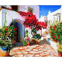 """Картина по номерам на дереве """"Цветочный дворик"""" 40*50 см, ТМ Josef Otten (8399RSBD)"""