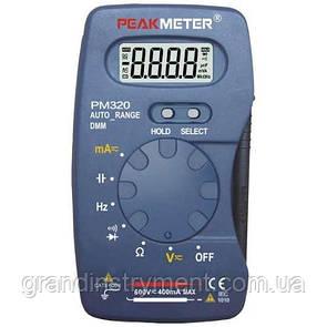 Цифровой карманный мультиметр с функцией измерения ёмкости и частоты PROTESTER PM320